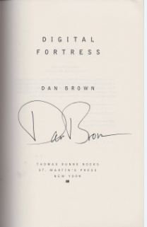 Digital Fortress. - Signierte Ausgabe - Dan Brown - Brown, Dan.