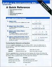 ESL Quick Reference Card - Susan Anker