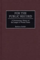 For the Public Record - Barbara Stuhler