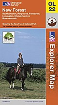New Forest 1 : 25 000: Southampton, Ringwood, Ferndown, Lymington, Christchurch & Bournemouth. Showing the New Forest National park (OS Explorer Map)