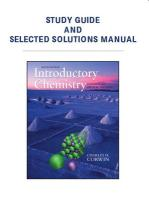 Introductory Chemistry Study Guide and Selected Solutions Manual: Concepts and Critical Thinking