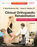 Clinical Orthopaedic Rehabilitation: An Evidence-Based Approach [With Access Code]