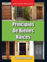 Principios de Bienes Raices/Real Estate Principles