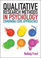 Qualitative Research Methods in Psychology - Frost, Nollaig