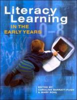 Literacy Learning in Early Years