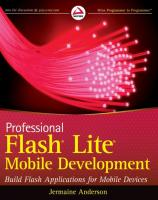 Professional Flash Lite Mobile Development
