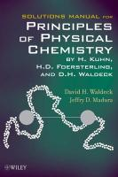 Solutions Manual for Principles of Physical Chemistry