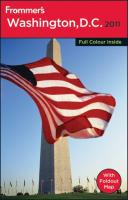 Frommer's Washington, D.C. 2011 (Frommer's Colour Complete Guides)