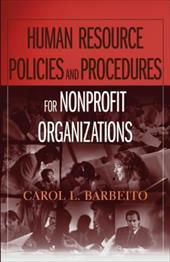 Human Resource Policies and Procedures for Nonprofit Organizations - Barbeito, Carol L. / Barbeito
