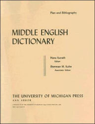 Middle English Dictionary: Plan and Bibliography - Robert E. Lewis