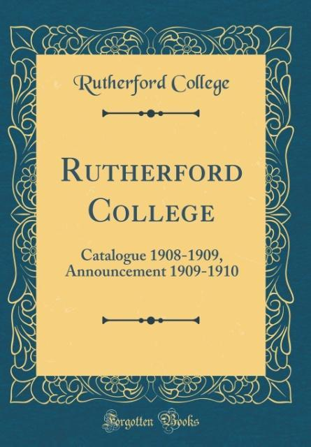Rutherford College als Buch von Rutherford College - Rutherford College