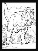 Dinosaurs Stained Glass Coloring Book