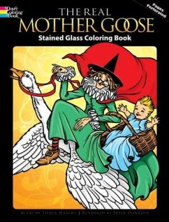 The Real Mother Goose Stained Glass Coloring Book - Wright, Blanche Fisher