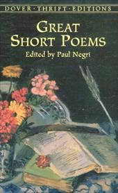 Great Short Poems - Dover Thrift Editions / Negri, Paul