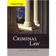 Cengage Advantage Books: Criminal Law - Samaha, Joel