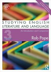Studying English Literature and Language: An Introduction and Companion - Pope, Rob