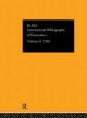 IBSS: Economics - International Committee for Social Sciences Documentation;  Compiled by the British Library of Political and Economic Science;  The British Library Of Political And Economic Science At The London School Of Economics