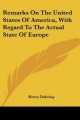 Remarks on the United States of America, with Regard to the Actual State of Europe - Henry Duhring