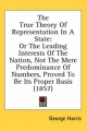 True Theory of Representation in a State - George Harris
