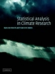 Statistical Analysis in Climate Research - Hans von Storch;  Francis W. Zwiers
