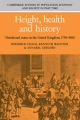 Height, Health and History - Roderick Floud; Annabel Gregory; Kenneth Wachter