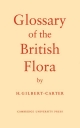 Glossary of the British Flora - H. Gilbert-Carter