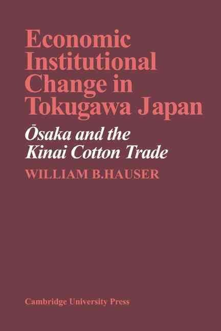 Economic Institutional Change in Tokugawa Japan