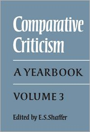Comparative Criticism: Volume 3: A Yearbook