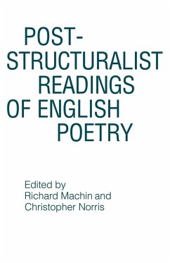 Post-Structuralist Readings of English Poetry - Machin, Richard Norris, Christopher