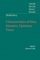 Shaftesbury: Characteristics of Men, Manners, Opinions, Times - Lord Shaftesbury; Lawrence E. Klein
