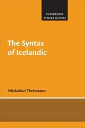 The Syntax of Icelandic - Thrainsson, Hoskuldur / Thr Insson, H. Skuldur / Bresnan, J.