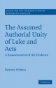 Assumed Authorial Unity of Luke and Acts - Patricia Walters