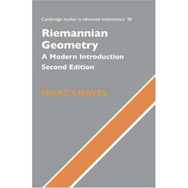 Riemannian Geometry : A Modern Introduction Cambridge Studies In Advanced Mathematics - Isaac Chavel