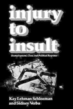 Injury to Insult: Unemployment, Class, and Political Response - Schlozman, Kay Lehman