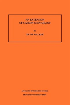 An Extension of Casson's Invariant. (Am-126) - Walker, Kevin