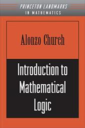 Introduction to Mathematical Logic (PMS-13) - Church, Alonzo