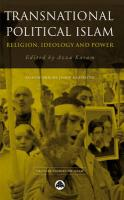 Transnational Political Islam: Religion, Ideology and Power