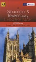 AA Leisure Map Gloucester & Tewkesbury