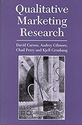 Qualitative Marketing Research - Carson, David / Gilmore, Audrey / Gronhaug, Kjell