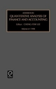 Advances in Quantitative Analysis of Finance and Accounting - Cheng-Few Lee