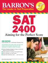 Barron's SAT 2400: Aiming for the Perfect Score - Carnevale, Linda / Teukolsky, Roselyn