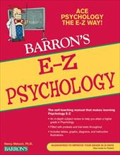 Barron's E-Z Psychology - Melucci, Nancy