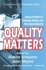 Quality Matters - Robert Schwartz, John Winston Mayne