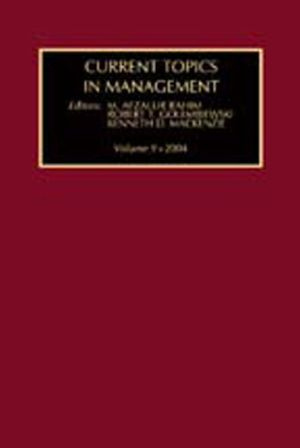 Current Topics in Management Volume 9