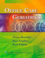 Office Care Geriatrics: The Essentials