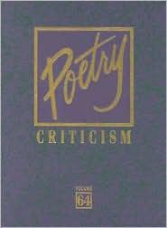 Poetry Criticism Vol. 64