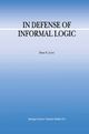 In Defense of Informal Logic - Don S. Levi