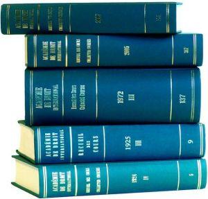 Recueil des cours, Collected Courses, Tome 242 (1993-V) - Academie de Droit International de la Ha