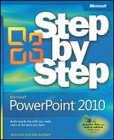 Microsoft PowerPoint 2010 Step by Step [With Access Code]