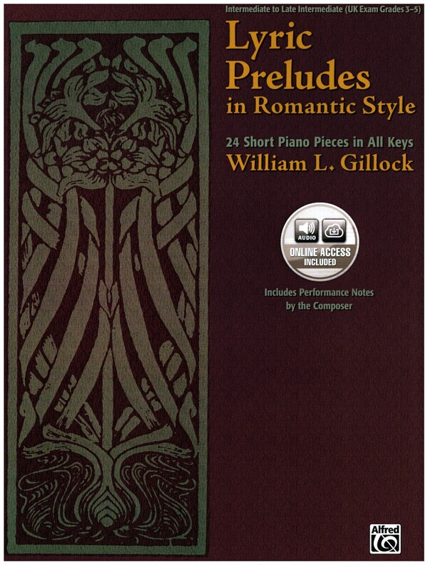 Lyric Preludes in Romantic Style: 24 Short Piano Pieces in All Keys (Book & CD)
